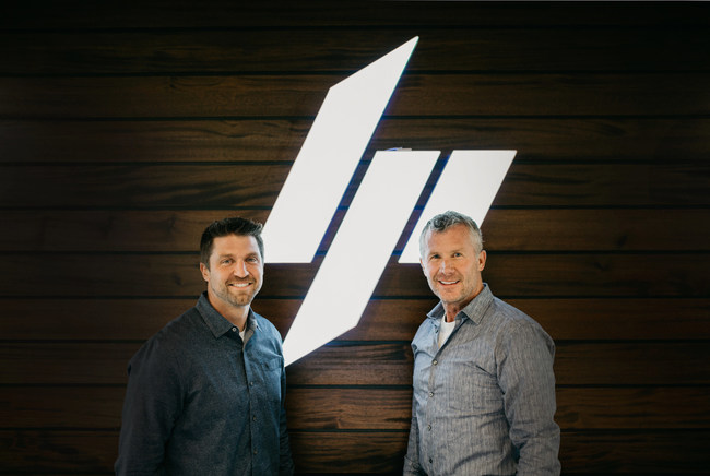 LGCY Power CEO Doug Robinson (left) welcomes Greg Butterfield to the LGCY team as Chairman