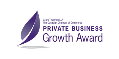 The Canadian Chamber of Commerce and Grant Thornton LLP are proud to announce the 2017 Private Business Growth Award winner. (CNW Group/Private Business Growth Award)