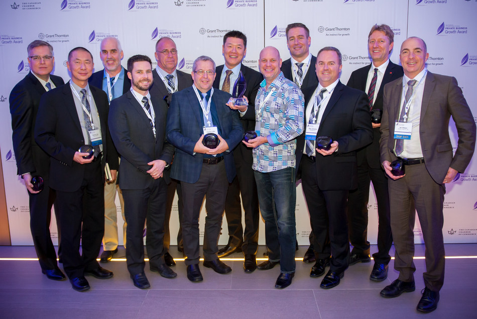 The Private Business Growth Award Top 10 finalists. (CNW Group/Private Business Growth Award)