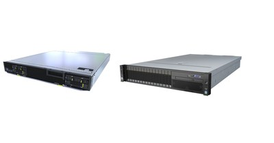 Huawei FusionServer CH242 V5 (left) and FusionServer 2488 V5 (right)