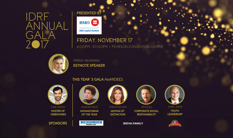 IDRF Annual Gala 2017 (CNW Group/International Development & Relief Foundation)