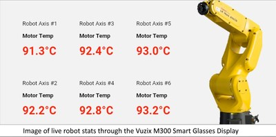 Image of live robot stats through the M300 screen