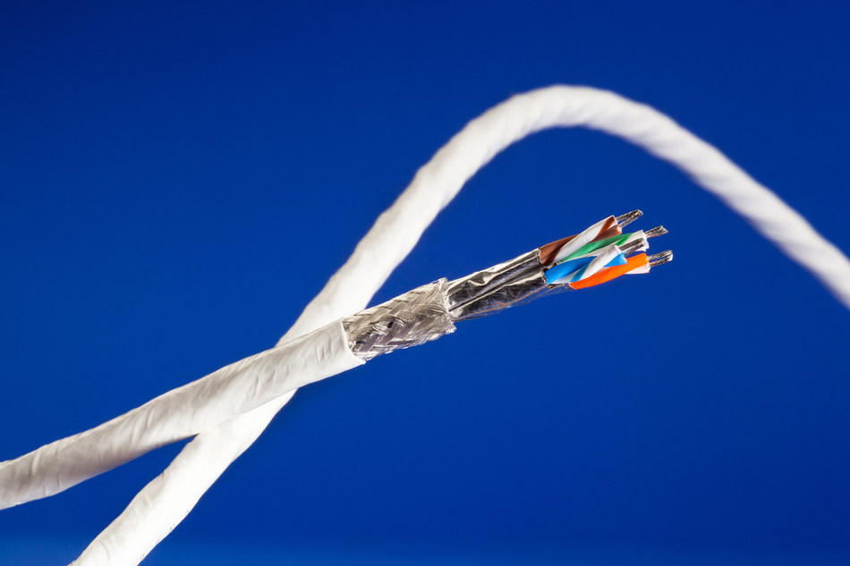 GORE® Aerospace Ethernet Cables are engineered for the increasing data demands of modern airborne digital networks. Photo: W. L. Gore & Associates