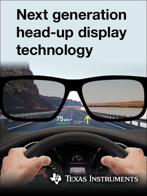 New automotive-qualified DLP3030-Q1 chipset and EVMs allow automakers and Tier-1 suppliers to create HUD systems with crisp, high-quality imagery
