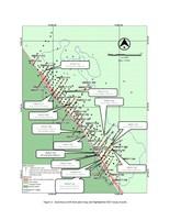 Figure 1 : Vue de plan des forages à Saramacca et résultats d'analyses de 2017 (Groupe CNW/IAMGOLD Corporation)
