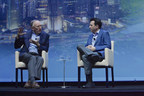 At Autodesk University 2017, Esri Founder and President Jack Dangermond (left) and Autodesk CEO Andrew Anagnost (right) announced a new partnership to bring together the power of building information modeling and GIS mapping data.