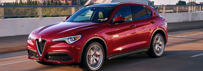 The 2018 Alfa Romeo Stelvio is available now at Palmen Auto Stores.