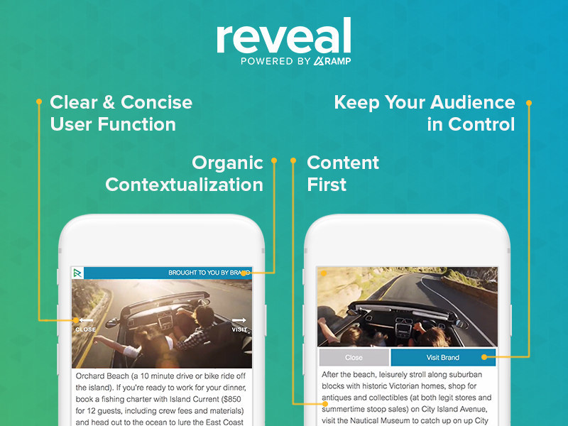 Receptiv today announced the launch of Reveal -- a new mobile web out-stream product deployed across over 40 key mobile publishers. Reveal is the industry's first out-stream video product built specifically to comply with the IAB's LEAN (Light, Encrypted, Ad choice supported, and Non-invasive) principles and the Coalition for Better Ads' initial standards.
