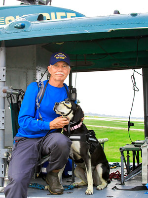 Jim Case was restless after retiring from his job as a firefighter until he adopted Grace from the Animal Welfare League of Charlotte County in Florida. Now Jim and Grace provide rescue services to local, state, and federal law enforcement. They are ready 24 hours a day, and they couldn't be happier or more fulfilled.