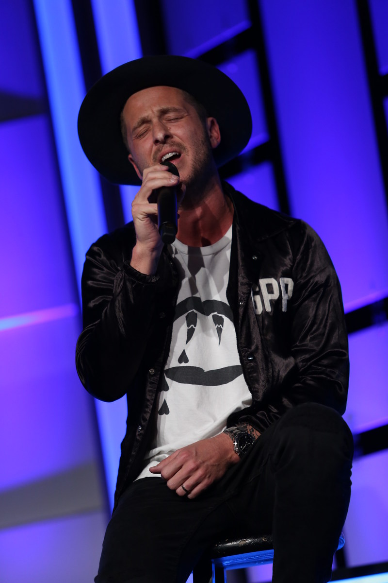 Ryan Tedder of OneRepublic performs as Human Rights Watch presents the Voices For Justice Annual Gala on Tuesday, November 14, 2017 at the Beverly Hilton Hotel in Beverly Hills, CA. Photo: Benjamin Shmikler/ABImages