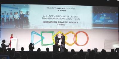 "Safe City Award winner: Shenzhen Traffic Police - Global-First All-Scenario Intelligent Transportation Solutions Helps Building ""Traffic Brain"" for Cities"