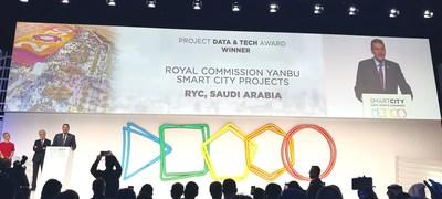 Ganador del Premio Datos y Tecnología: Proyecto de ciudad inteligente de la Comisión Real (PRNewsfoto/Huawei)