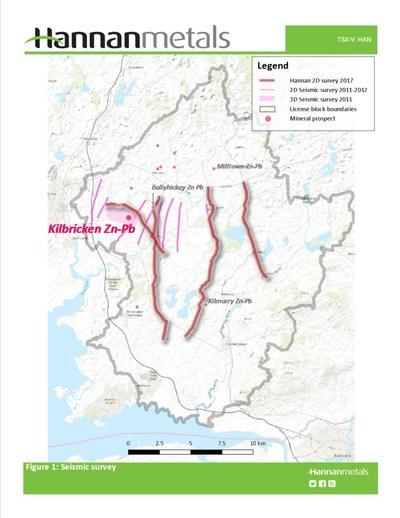Figure 1: Seismic survey (CNW Group/Hannan Metals Ltd.)