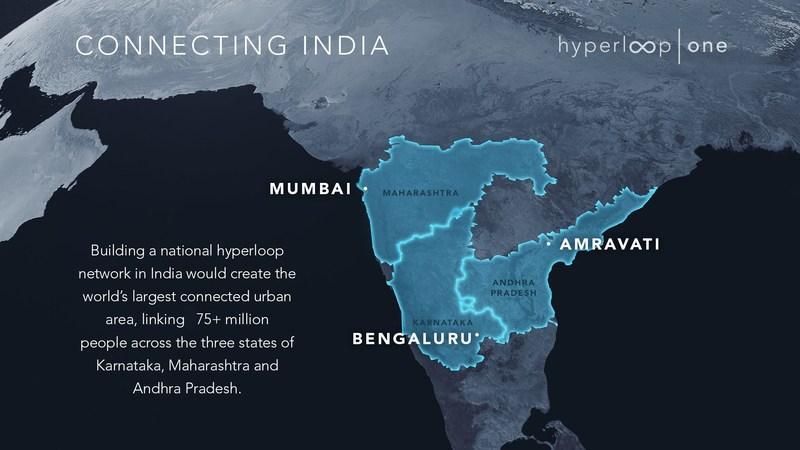 Virgin Hyperloop One building a national hyperloop network in India (PRNewsfoto/Virgin Hyperloop One)