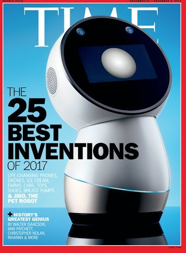 Jibo, the First Social Robot for the Home, Named One of TIME's Best Inventions of 2017