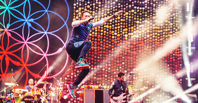 """Coldplay's """"A Head Full Of Dreams Tour"""" Becomes Third Highest Grossing World Tour Of All Time (PRNewsfoto/Live Nation Entertainment)"""