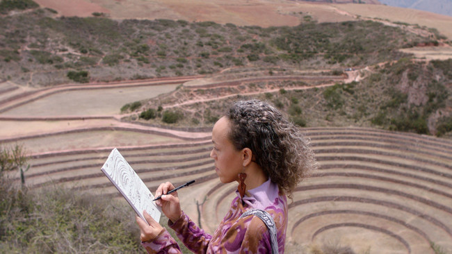 Paula Wilson traveling in Peru is one of four artists venturing worldwide seeking creative inspiration for their artwork and who will be featured in Marriott International's upcoming documentary series StoryBooked™.