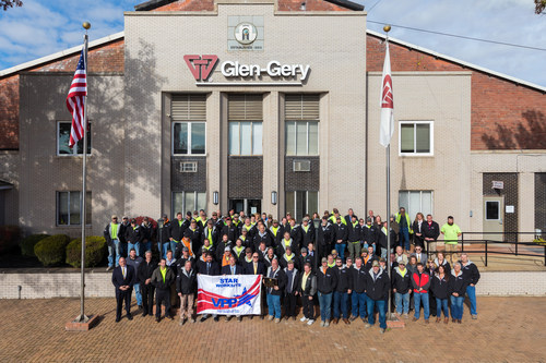 """Two Glen-Gery brick plants achieve OSHA VPP """"Star"""" status, the highest honor for employee safety. A formal ceremony with guest speakers, including Pennsylvania government officials and OSHA representatives, was held at Glen-Gery's Hanley Plant on November 9."""