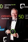 Ieso Chairman, Simon Cartmell, collects Deloitte UK Fast Fifty Awards 2017 (PRNewsfoto/Ieso Digital Health)