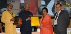 """National Tourism Awards 2015-16: President Ram Nath Kovind Presenting """"Best Tourism Film"""" to Rajasthan Tourism and is received by Smt. Krishnendra Kaur (Deepa), Hon'ble Minister of State for Tourism, Government (PRNewsfoto/Rajasthan Tourism)"""