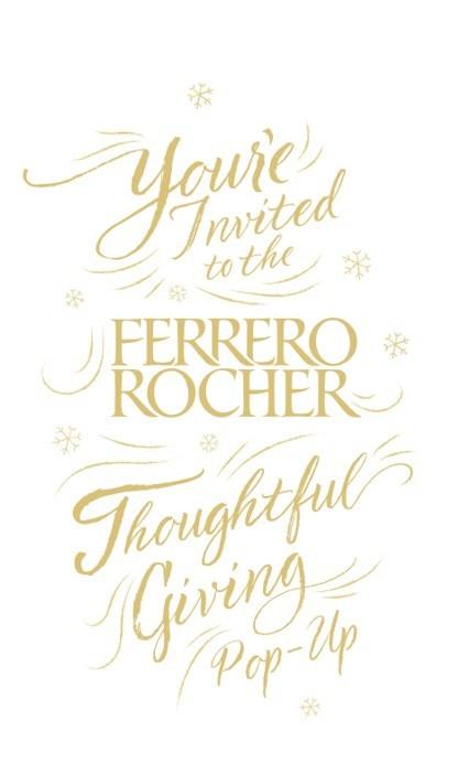 Experience the Ferrero Rocher Thoughtful Giving Pop-Up with Jillian Harris (CNW Group/Ferrero Rocher)