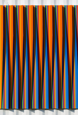 Carlos Cruz-Diez, Physichomie (SCAD), 2017. Image courtesy of the Savannah College of Art and Design. Presented in collaboration with Articruz and the Cruz-Diez Art Foundation.