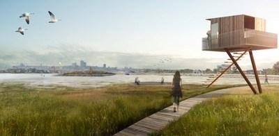 Vision d'aménagement du littoral est © Lemay + CHA + DAA (Groupe CNW/Commission de la capitale nationale du Québec (CCNQ))