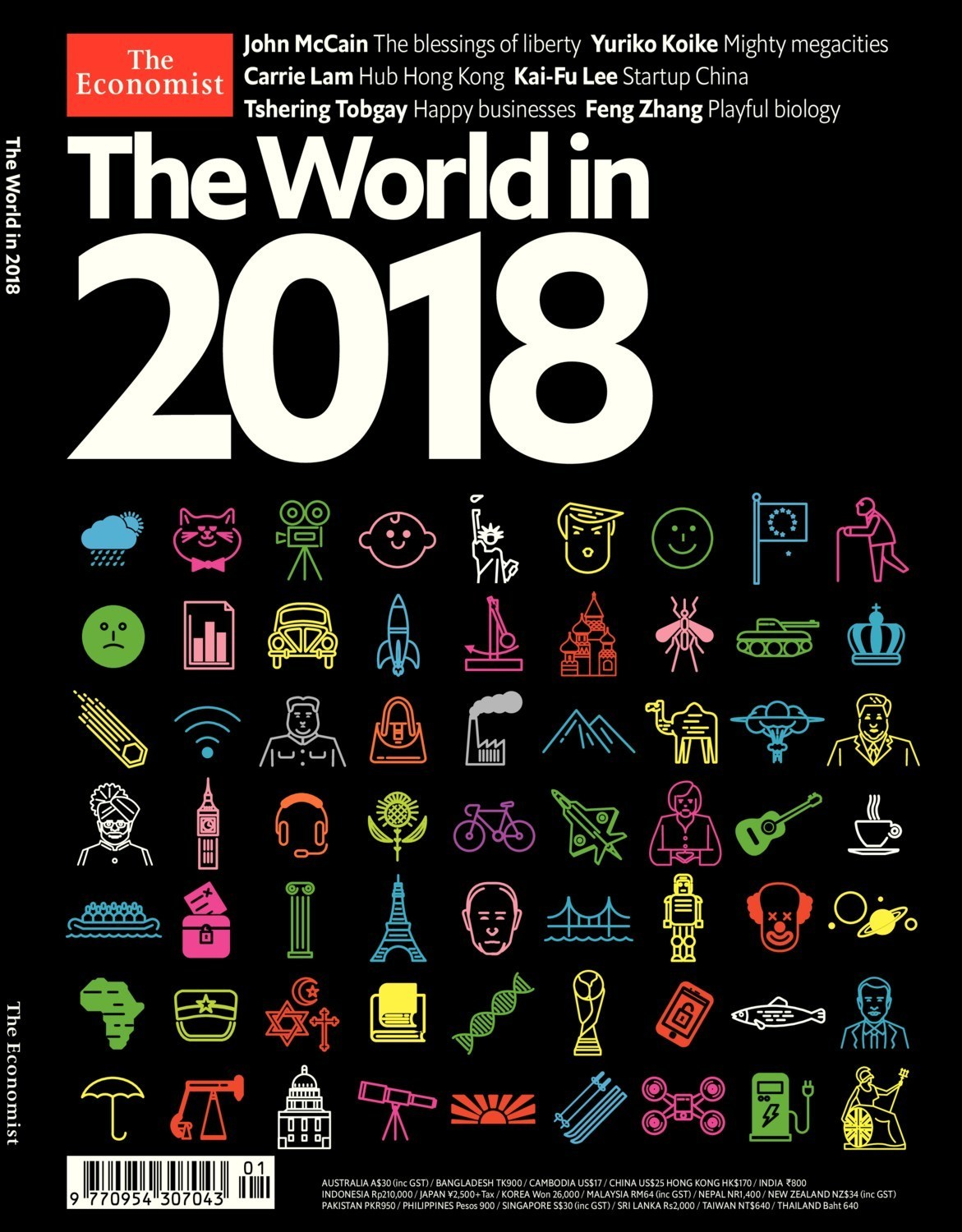 The World in 2018 from The Economist highlights key global themes to watch  for next year