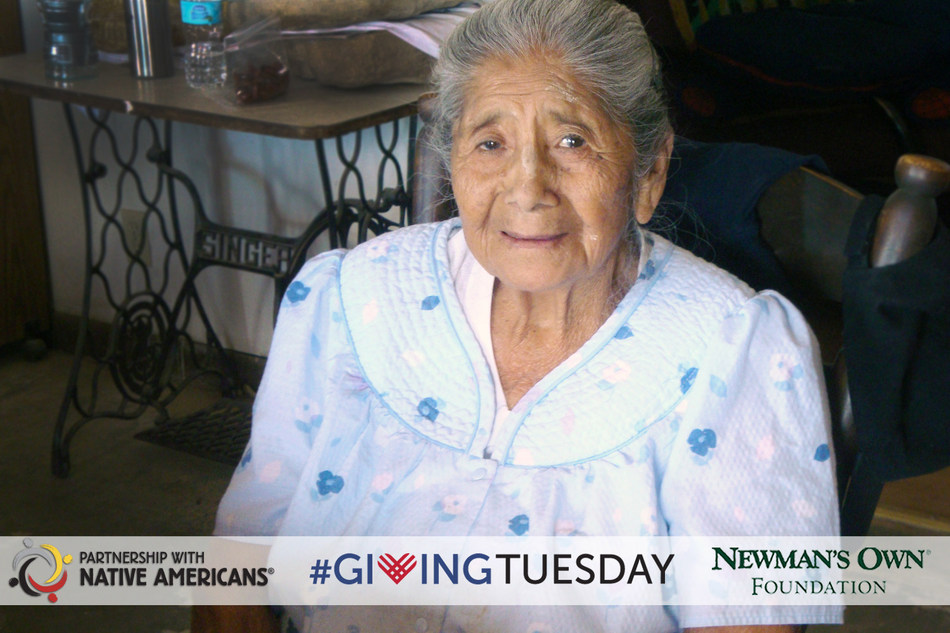 Partnership With Native Americans is participating in #GivingTuesday and Newman's Own Foundation holiday challenge. Donations will help provide healthy nutrition for native elders during the holidays.
