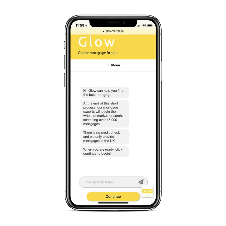 Glow Mortgage Chatbot (PRNewsfoto/Glow)