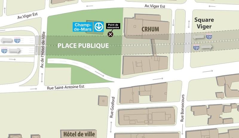 Une nouvelle place publique au cœur de Montréal - Remise d'un des legs du gouvernement du Québec à la Ville de Montréal dans le cadre de son 375e anniversaire (Groupe CNW/Cabinet du ministre des Transports, de la Mobilité durable et de l'Électrification des transports)