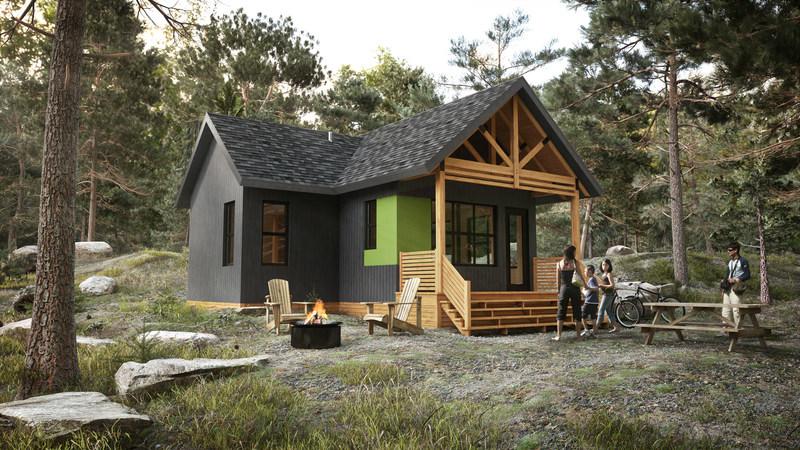 Le nouveau chalet Écho s'inspire de tout ce que les autres chalets de la Sépaq ont de mieux à offrir en termes de confort, d'espace… et de prix. (Groupe CNW/Société des établissements de plein air du Québec)