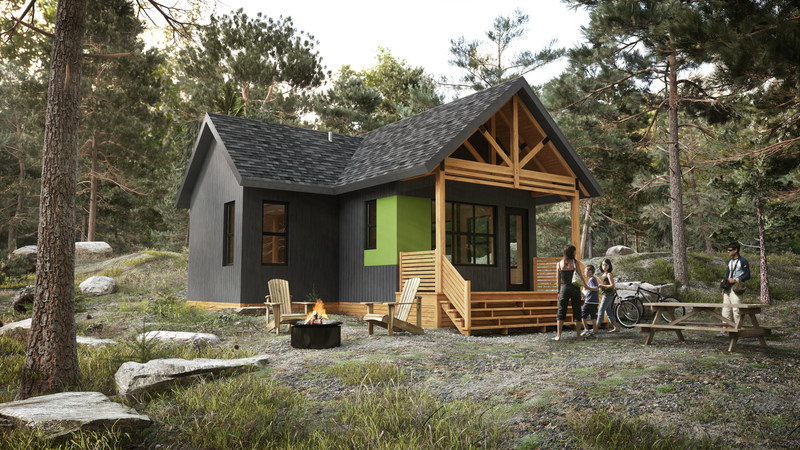 The latest offspring is called the Écho cabin, inspired by everything that other models offer best in terms of comfort, space ... and price. (CNW Group/Société des établissements de plein air du Québec)