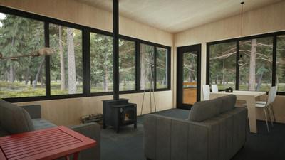 It's a true four-season family cabin where the use of each square centimetre has been carefully thought out. (CNW Group/Société des établissements de plein air du Québec)