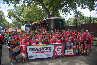 Grainger team members support the LGBTQ community through its annual participation in the Chicago Pride Parade.