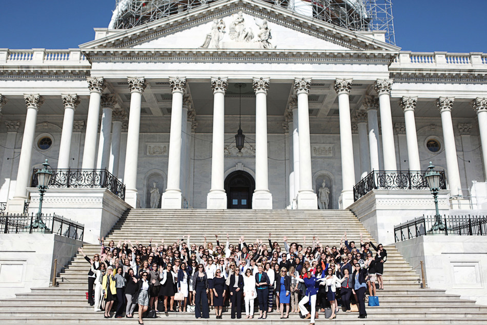 Beautycounter staff and Consultants during a lobbying trip to D.C. in May of 2016