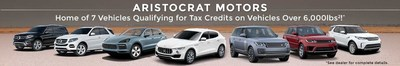 Several large luxury SUVs currently available at Aristocrat Motors may be eligible for tax savings for the 2017 year. Find out more at AristocratMotors.com.
