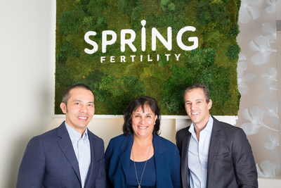 Dr. Nam Tran, Dr. Debra Minjarez and Dr. Peter Klatsky of Spring Fertility, SF, CA