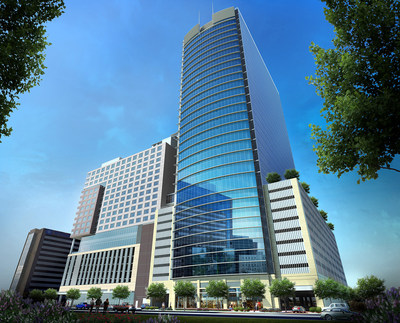 Medistar's new medical tower will be connected to 22-story InterContinental hotel and 35-story apartment tower on Main Street, adjacent to the Texas Medical Center.
