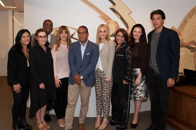 Jury for 2017 JCS International Young Creatives Award: Pictured: Barbara Kopple, Susan Ennis, Isiah Thomas, Jenna Arnold, Sean Cohan, Michal Grayevsky, Muna Rihani, Camille Bidermann, Dennis Paul (PRNewsfoto/JCS International)