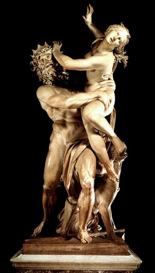"""Original """"Ratto di Proserpina"""" at the Villa Borghese in Rome"""