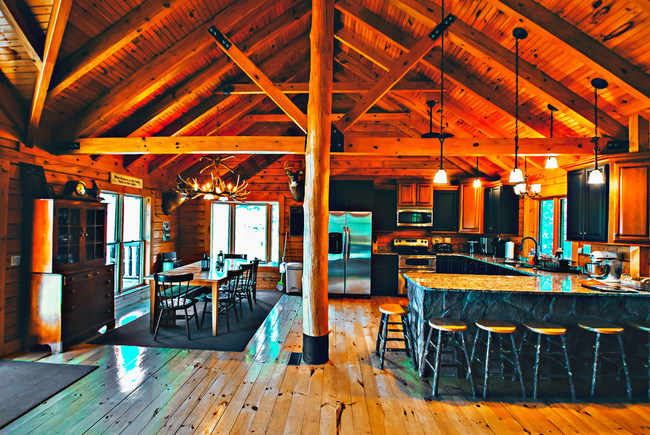 Gorgeous Log Home for vacation rental in the Pocono Mountians on Beltzville Lake.