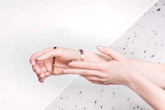 MIKO+ physiotherapeutic jewellery designed by Ewa Dulcet and Martyna Swierczynska, Domestic Design graduates of the School of Form in Poznan, Poland (PRNewsfoto/Global Grad Show)