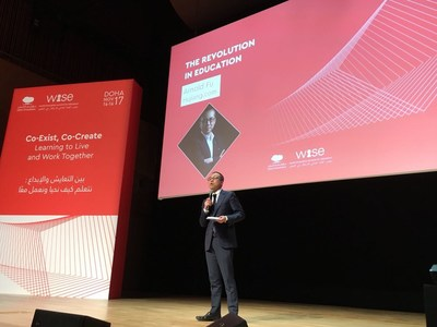 Hujiang EdTech CEO Arnold Fu Gave a Speech on Provocation Talks at WISE 2017