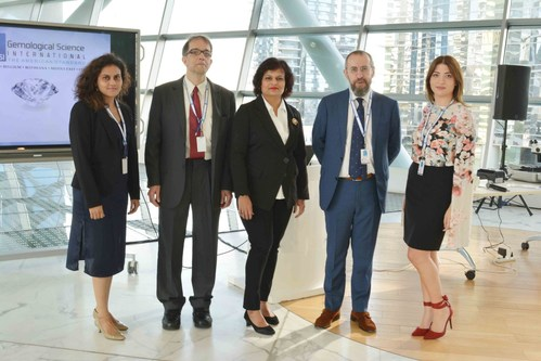 """A picture of Team GSI from the seminar """"Man Made diamonds - Myths and the Facts"""" at DMCC Dubai (PRNewsfoto/GSI)"""