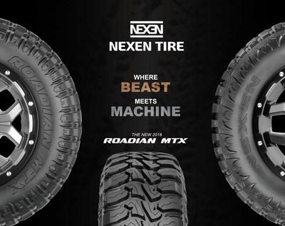 Nexen Tire adiciona pneu mud-terrain Roadian MTX ao seu portfólio