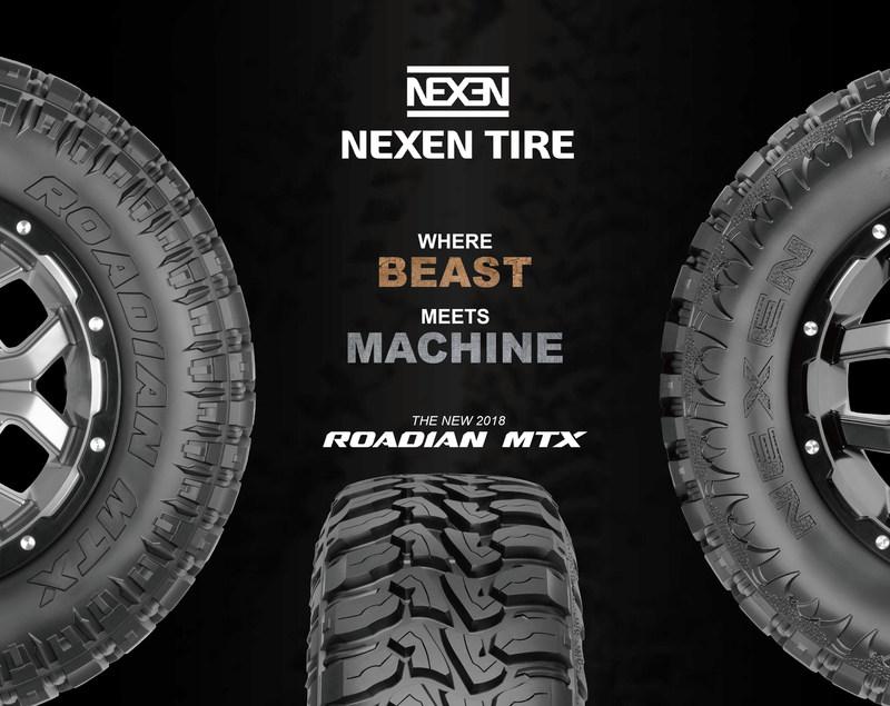 Nexen Tire ajoute à son portefeuille de produits le Roadian MTX, un pneu adapté aux terrains boueux