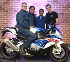 (L-R) Mr. Vikram Pawah, President, BMW Group India, Mr. Shivapada Ray, Head, BMW Motorrad India, Mr. U Ventakesh, Dealer Principal, KUN Motorrad and Mr. Dimitris Raptis, Head of Region Asia, China, Pacific, South Africa, BMW Motorrad at the launch of KUN Motorrad in Chennai (PRNewsfoto/BMW India Private Limited)
