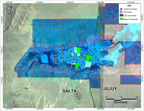 Map 1: Salinas Grandes (CNW Group/LSC Lithium Corporation)