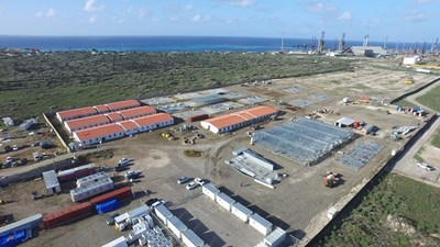 The first phase of CITGO Aruba Refinery man camp, which consists of dormitory buildings and service facilities that can house up to 400 workers.